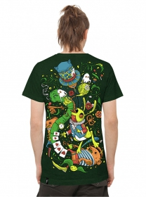 "T-shirt PlazmaLab \""Aliza\\\"", Green"