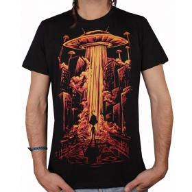 "T-shirt plazmalab \\\""beam me up\\\"", black"