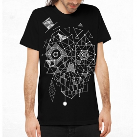 "T-shirt Plazmalab ""Esqueleto\"", Black"