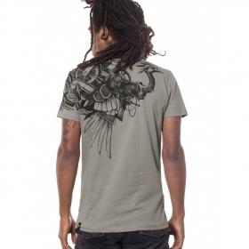 """T-Shirt PlazmaLab \""""Ostrich\"""" Light Grey"""