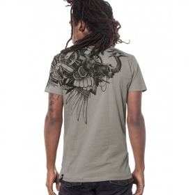 "T-Shirt PlazmaLab ""Ostrich\"" Light Grey"