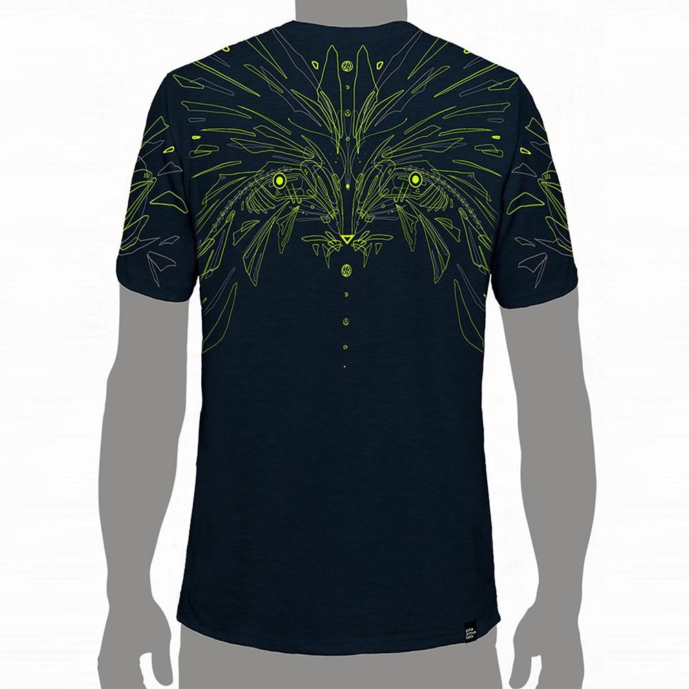 T shirt plazmalab raccon dark blue for T shirt dark blue
