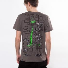 "T-shirt PlazmaLab \\\""Test this\\\"", Light Brown"