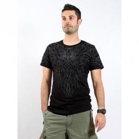 "T-shirt PlazmaLab \""Wings\"", Black"