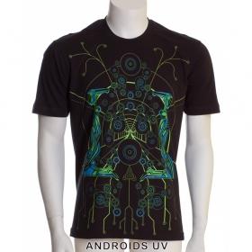 "T-shirt Public Beta \""Androids\"", Black"