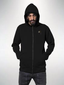 "\""Tahara\"" zipped hoodie, Black"