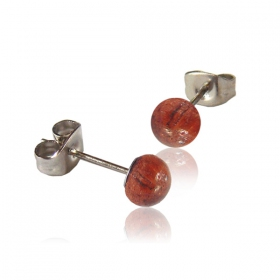 """Tamarin ball\"" stud earrings"