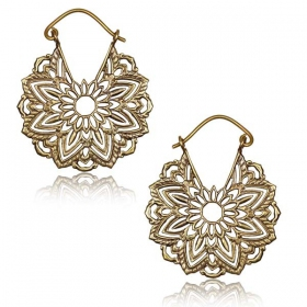 "\""Tanoy\\\"" Brass earrings"