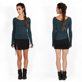 """Tchaïka\"" long sleeves top, Dark teal"