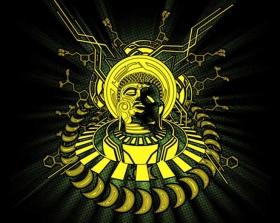 """Tee Shirt Shaman \""""DMT Buddha\"""", Black"""