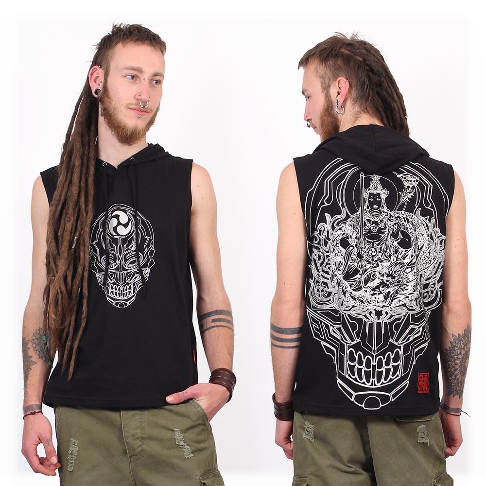 """Tee Shirt Shaman \""""Manjus\"""", Black"""