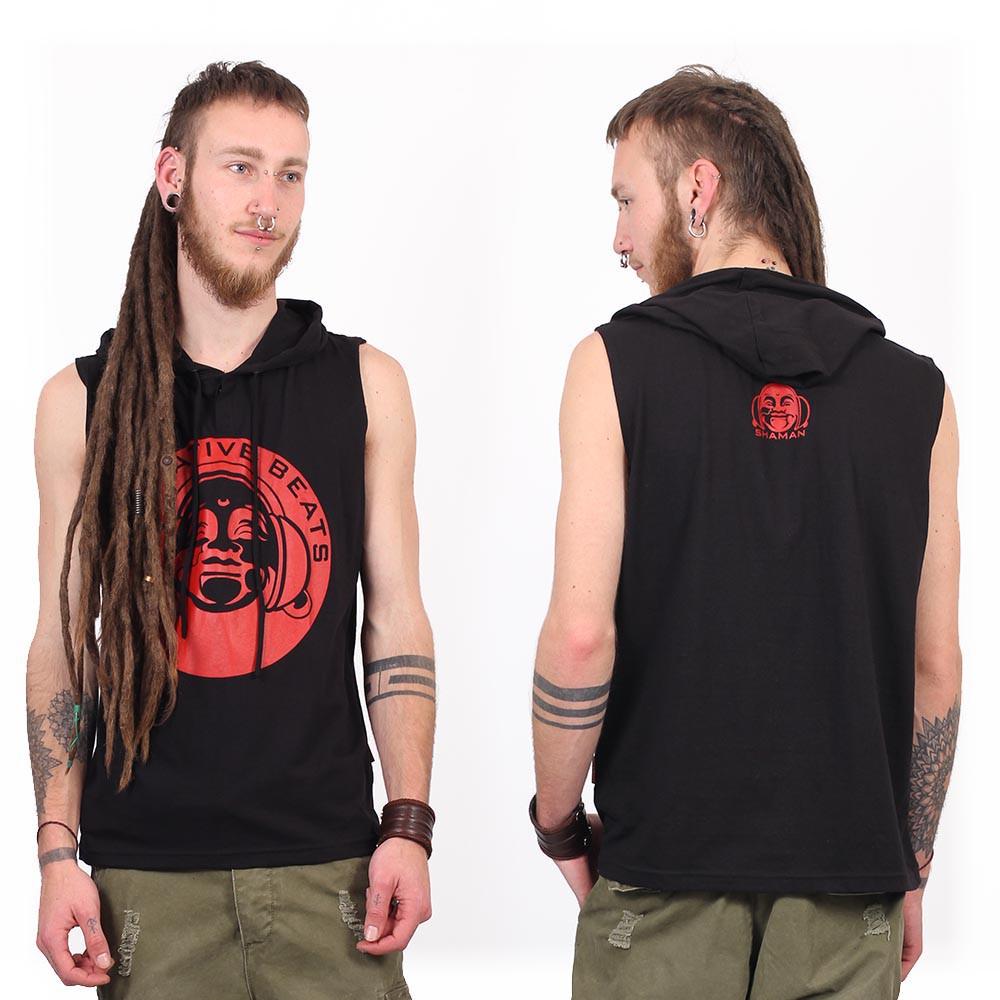 "Tee Shirt Shaman \""Meditative Beats\"", Black"