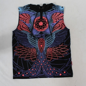 "Tee Shirt Shaman ""Peyote\"", Black"