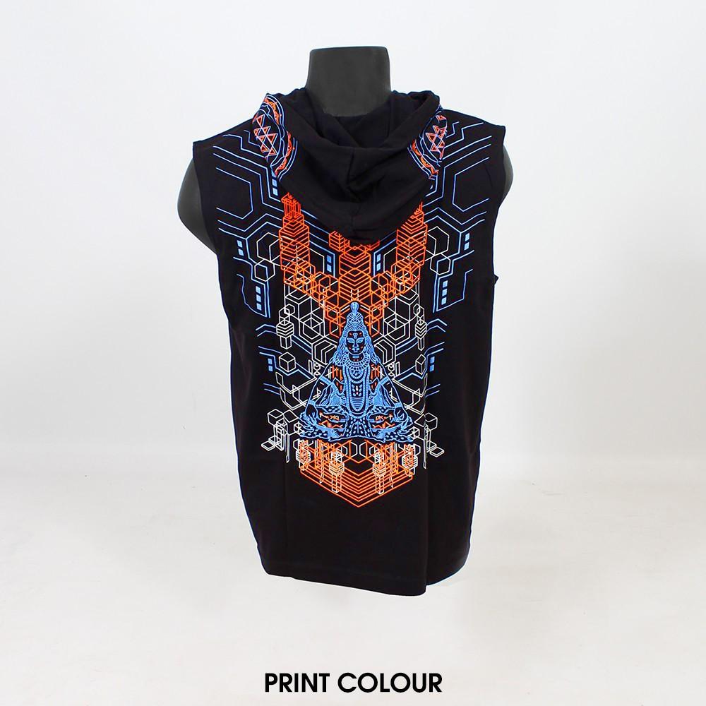 """Tee Shirt Shaman """"Trishula 3D"""", Black"""