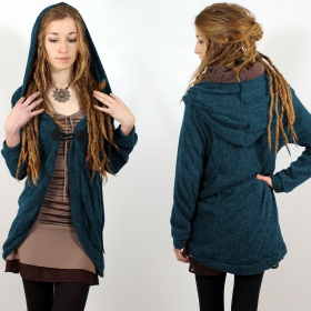 """Thin Shandili\"" cardigan, Teal blue"
