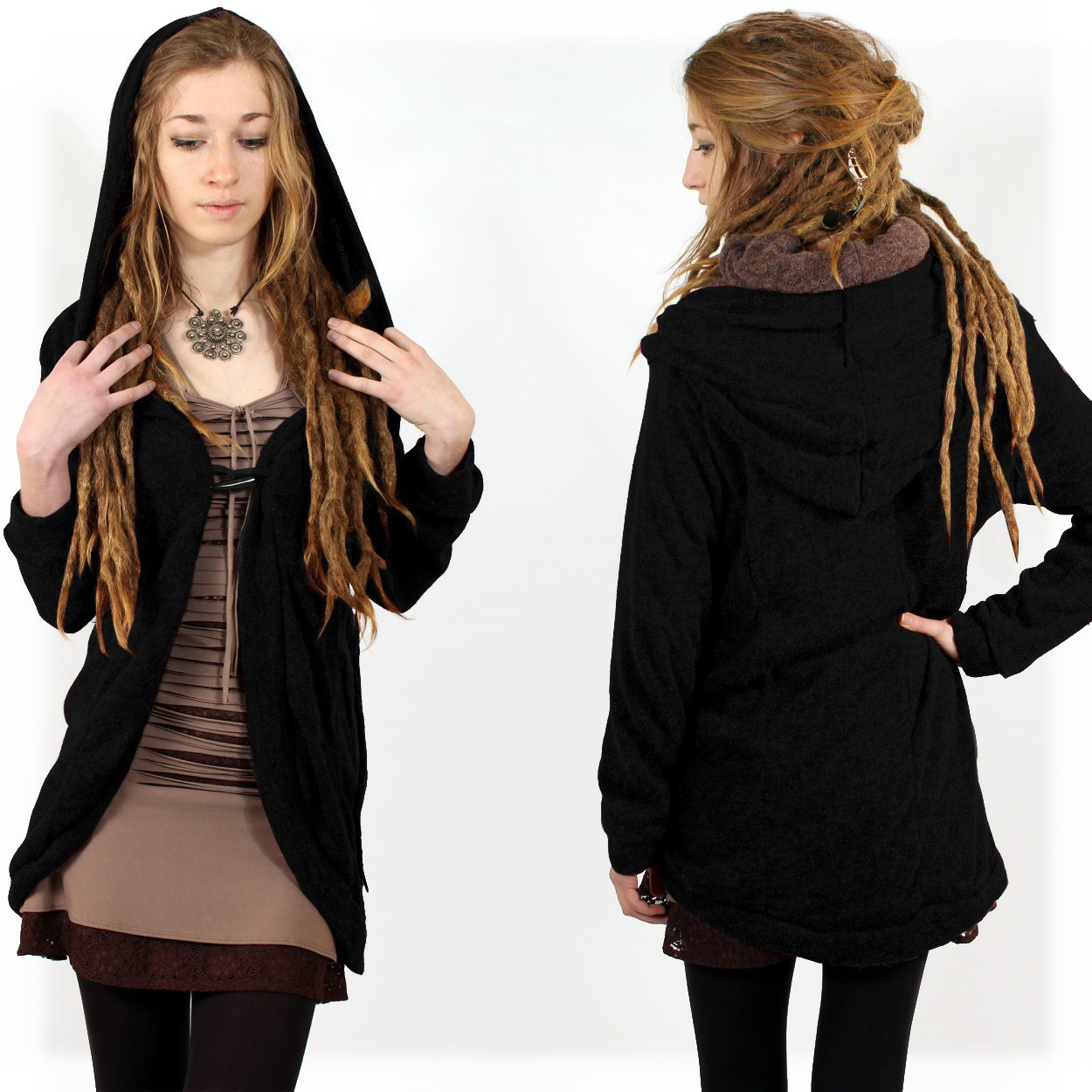 """Thin Shandili\"" Witch pullover, Black"