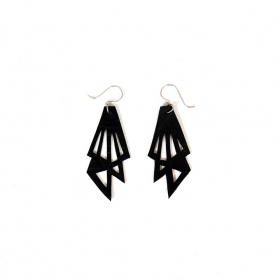 """Thunder\"" inner tube earrings"