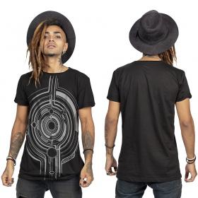 "\""Tierra Globule\"" t-shirt, Black and silver"