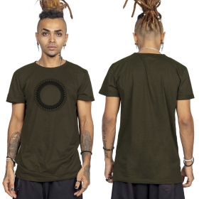 """Tierra Helios\"" t-shirt, Khaki green and black"