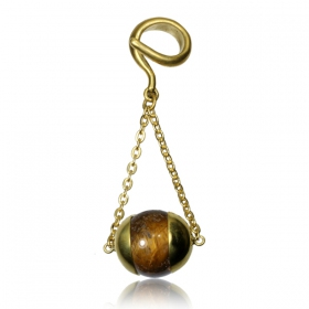 """Tiger Eye\"" ear hanger"