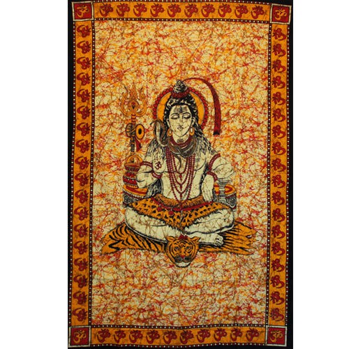 """Tiger Shiva\"" hanging, Orangish red"