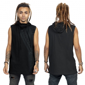 """Tikal\"" sleveless t-shirt, Black"