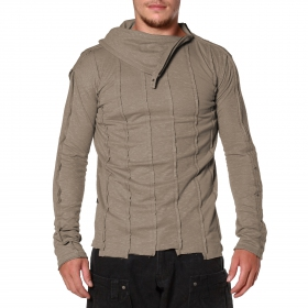 """Tilted Remix\"" Psylo Jumper, Steel"
