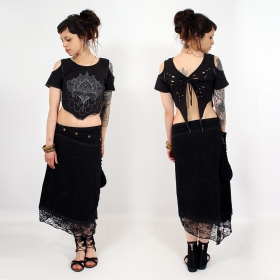 """Titalee\"" top, Black with print"