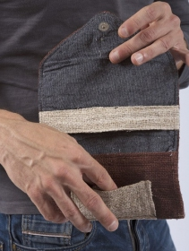 "Tobacco pouch \""Kaski\"", Brown hemp and cotton"