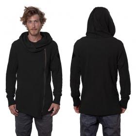 "\""Token\"" zipped sweater, Black"