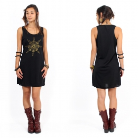"\""Toonz Mandala\\\"" dress, Black and gold"