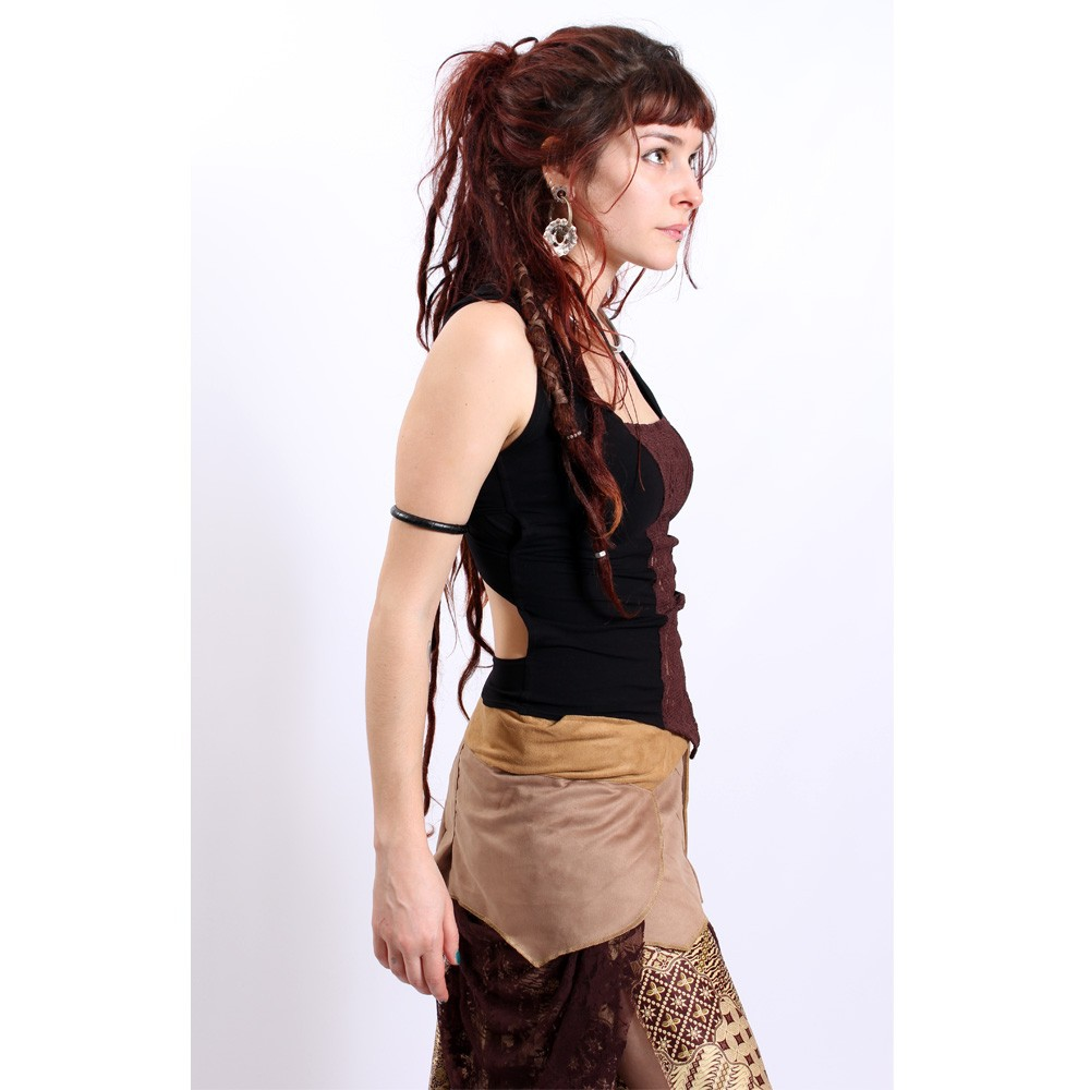 """Top liloo \\\""""lace\\\"""", black-brown"""