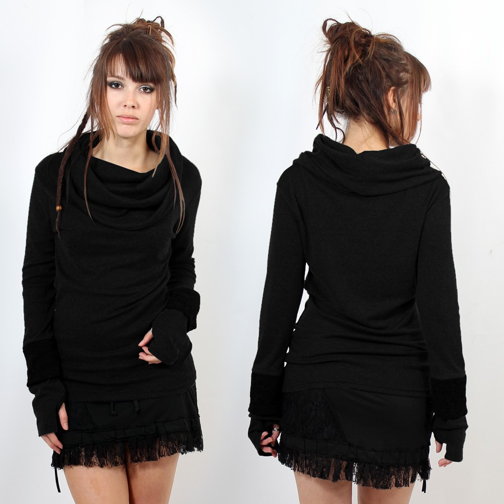 "Top Sweat Witch ""Chayan\"", Black"