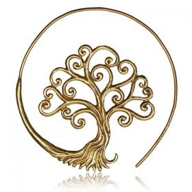 "\""Tree of life\\\"" brass ear jewel"