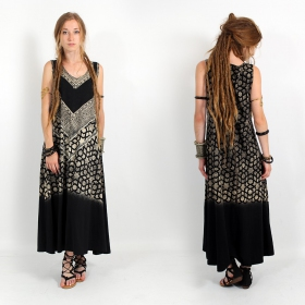 """Triangle\"" dress, Black and gold"