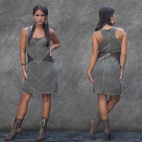 "\""Triangle\"" dress, Khaki"