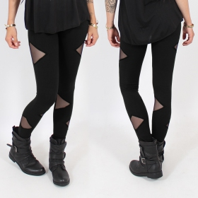 """Triangle\"" leggings, Black"