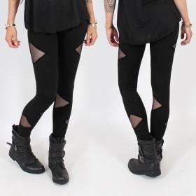 "\""Triangle\"" leggings, Black"