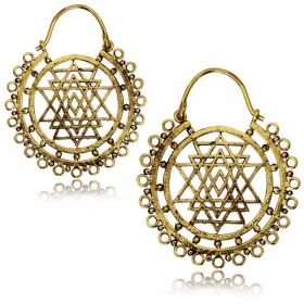 """Trikon\"" earrings"