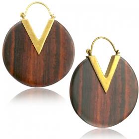 "\""Trikon\"" earrings"