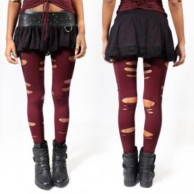 "\""Trinity\"" leggings, Deep red"