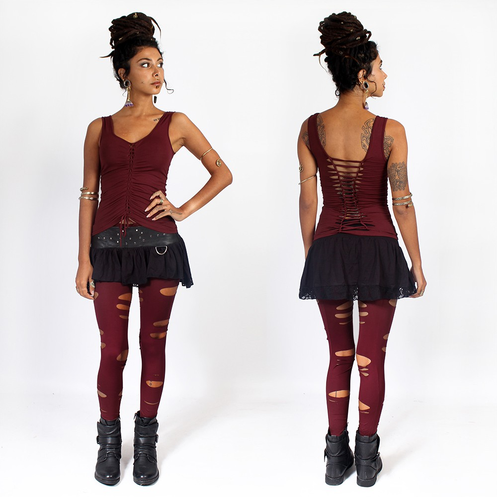 """Trinity\"" leggings, Deep red"