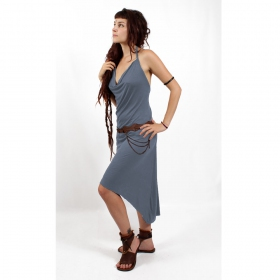 """Trisha\"" Dress, Grey blue"