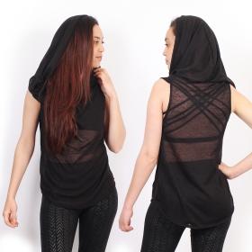 "\""Tsaïlo\"" sleeveless top, Black"