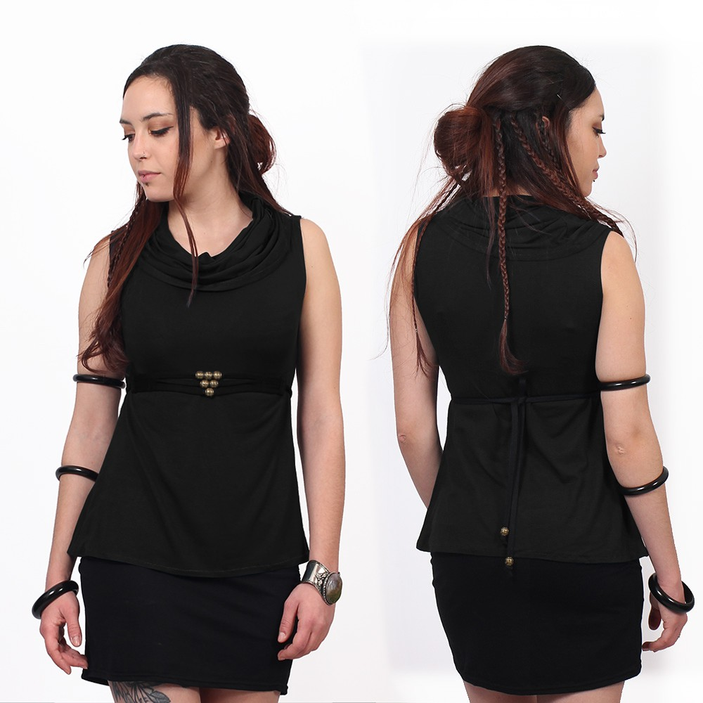 """Tsaïlo\"" sleeveless top, Black"