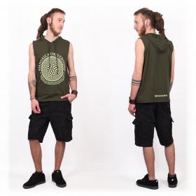 "Tshirt Shaman \""Ayahuasca\"", Khaki green"