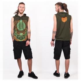 "Tshirt Shaman \""WOL\"", Khaki green"
