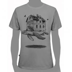 "\""Turtle\"" t-shirt, Light grey"