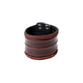 """Ujagar\"" leather bracelet, Brown"