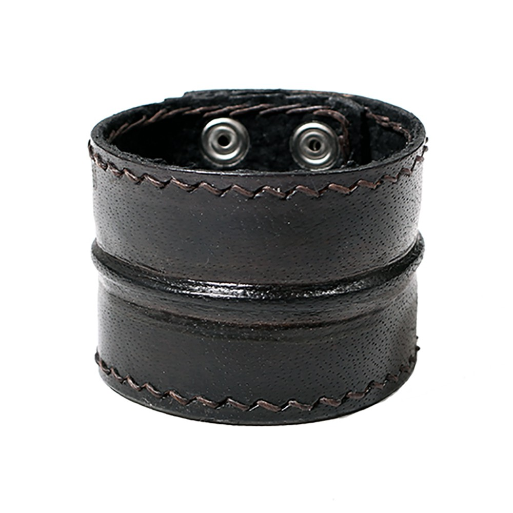 "\""Ujjala\"" leather bracelet, Black"